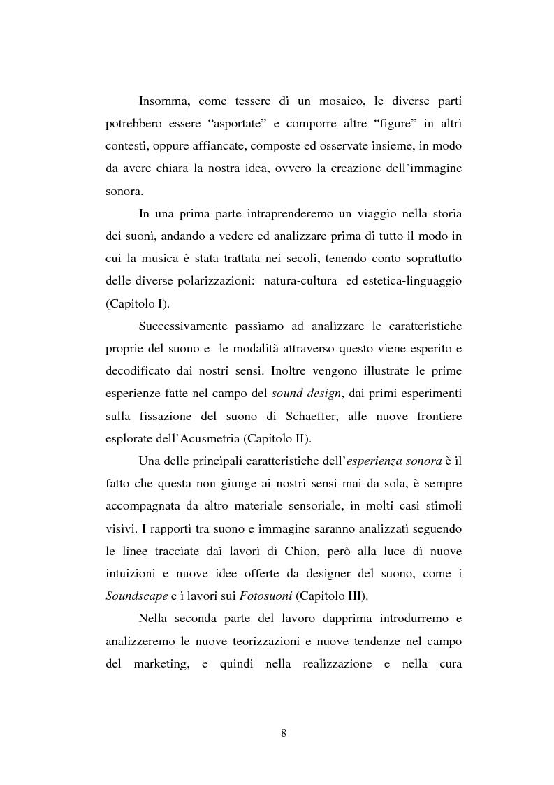 Anteprima della tesi: L'immagine sonora. Studio e progettazione di scenari, usi e contesti comunicativi del suono, Pagina 4
