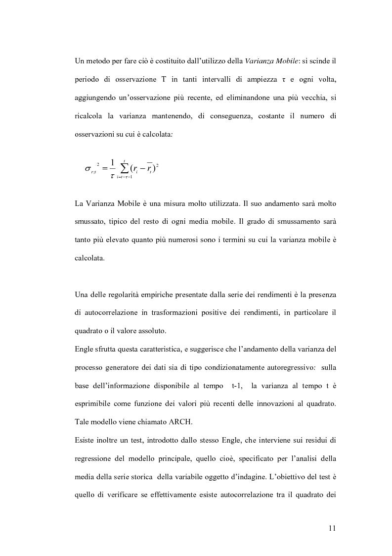 679538498b Anteprima della tesi: Analisi delle quotazioni giornaliere dei titoli:  Unicredito Ital RNC SpA &