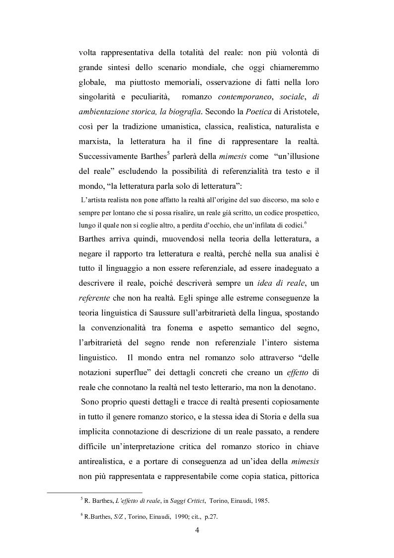 Anteprima della tesi: Storicità e narrazione. Situazioni e prospettive di un rapporto tra discipline in tre romanzi storici italiani., Pagina 3