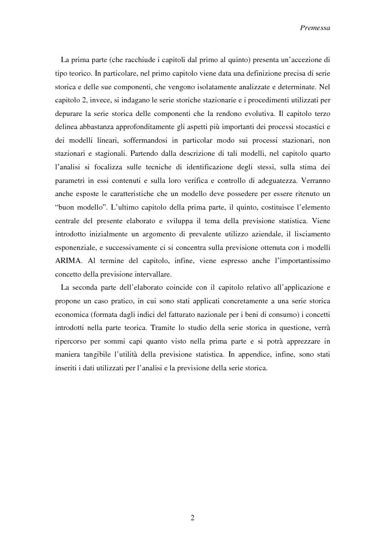 Anteprima della tesi: La previsione delle serie storiche economiche, Pagina 2