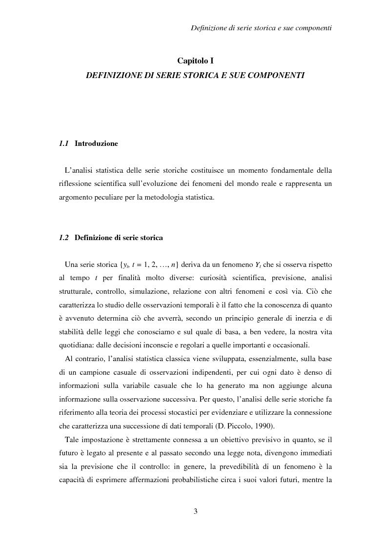 Anteprima della tesi: La previsione delle serie storiche economiche, Pagina 3
