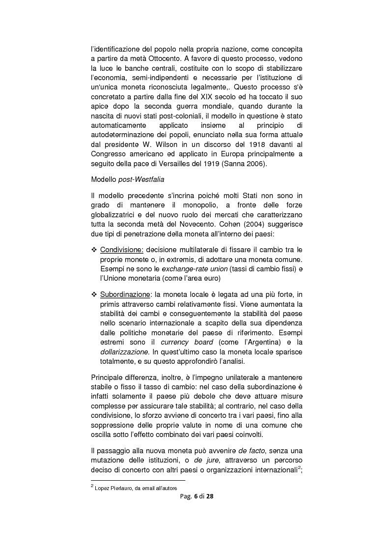 Anteprima della tesi: Dollarizzazione: quali benefici? Il caso Ecuador, Pagina 3