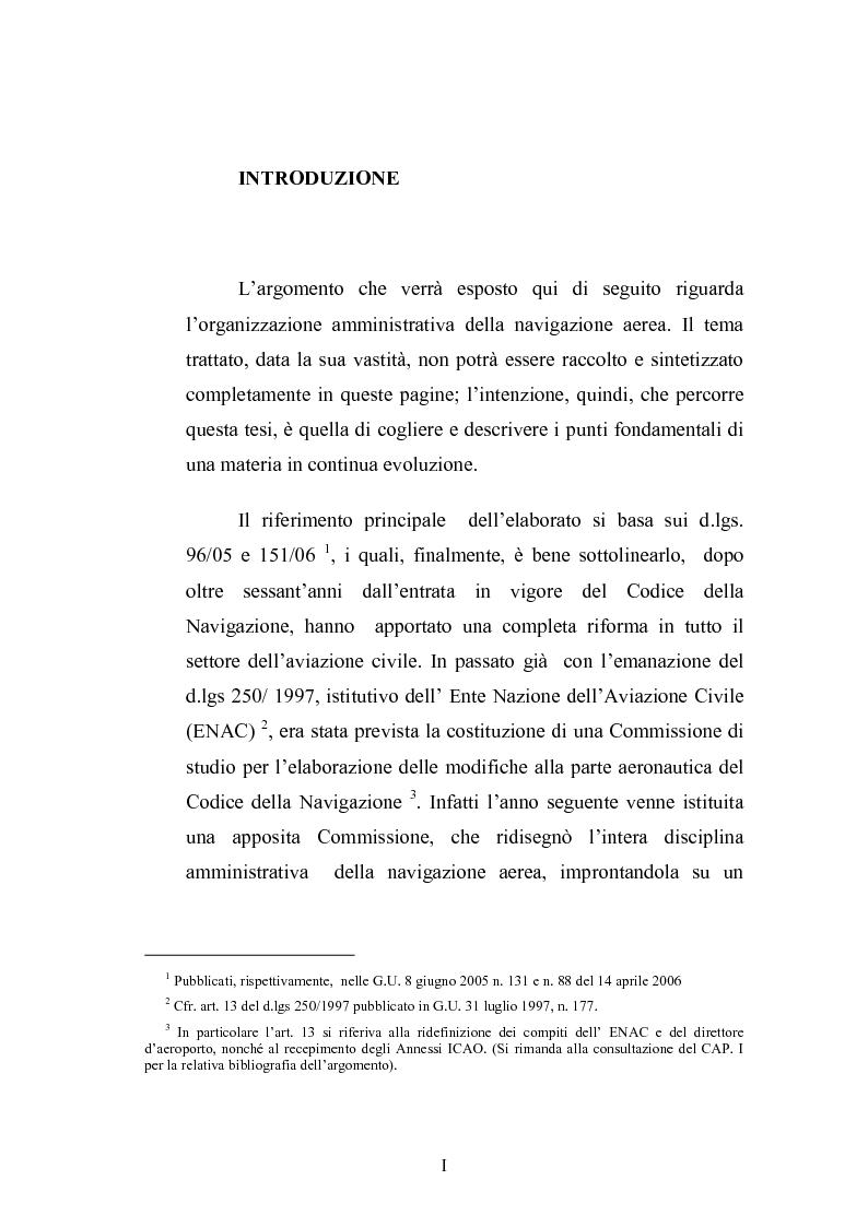 Anteprima della tesi: L'amministrazione della navigazione aerea, Pagina 1