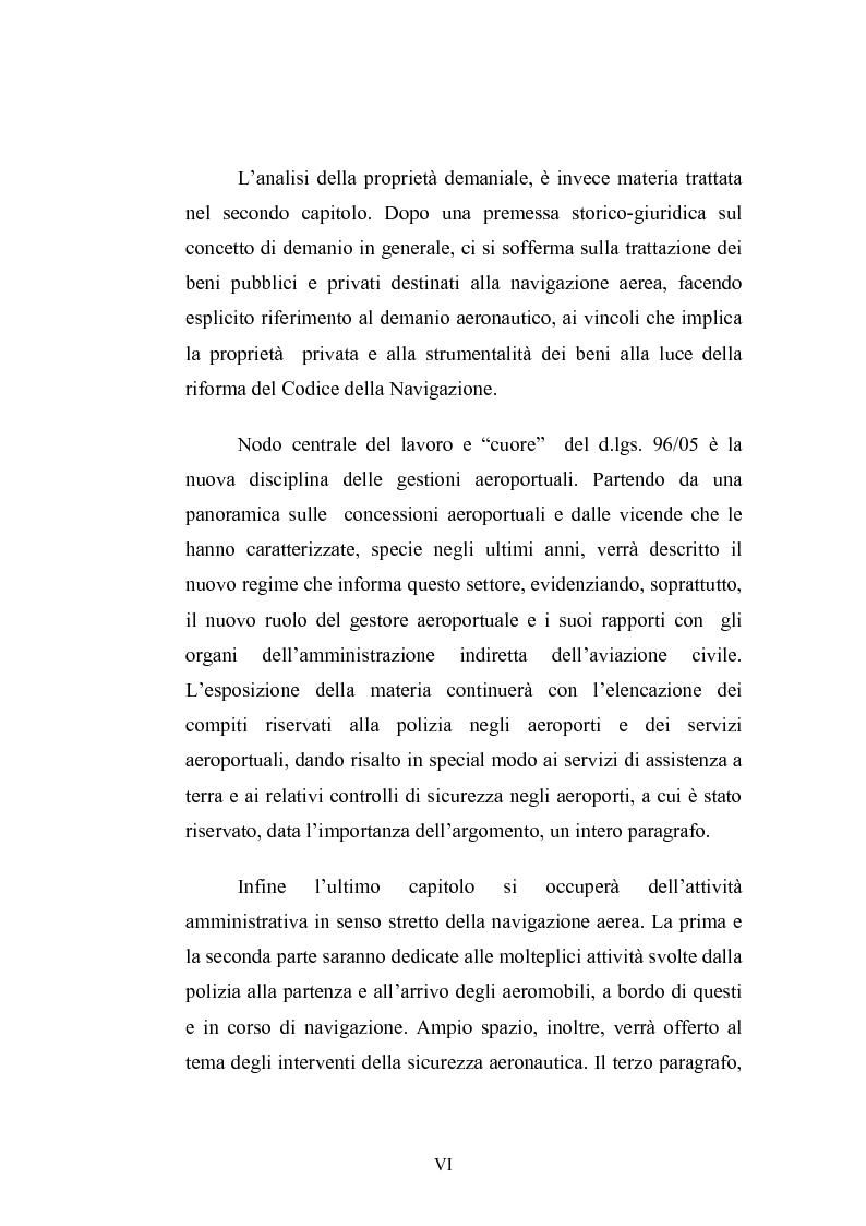 Anteprima della tesi: L'amministrazione della navigazione aerea, Pagina 6