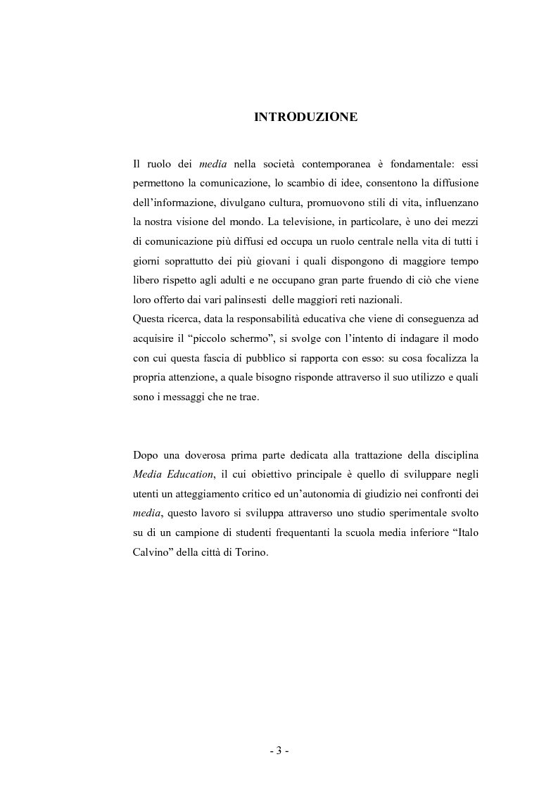 Anteprima della tesi: Adolescenti e TV, Pagina 1
