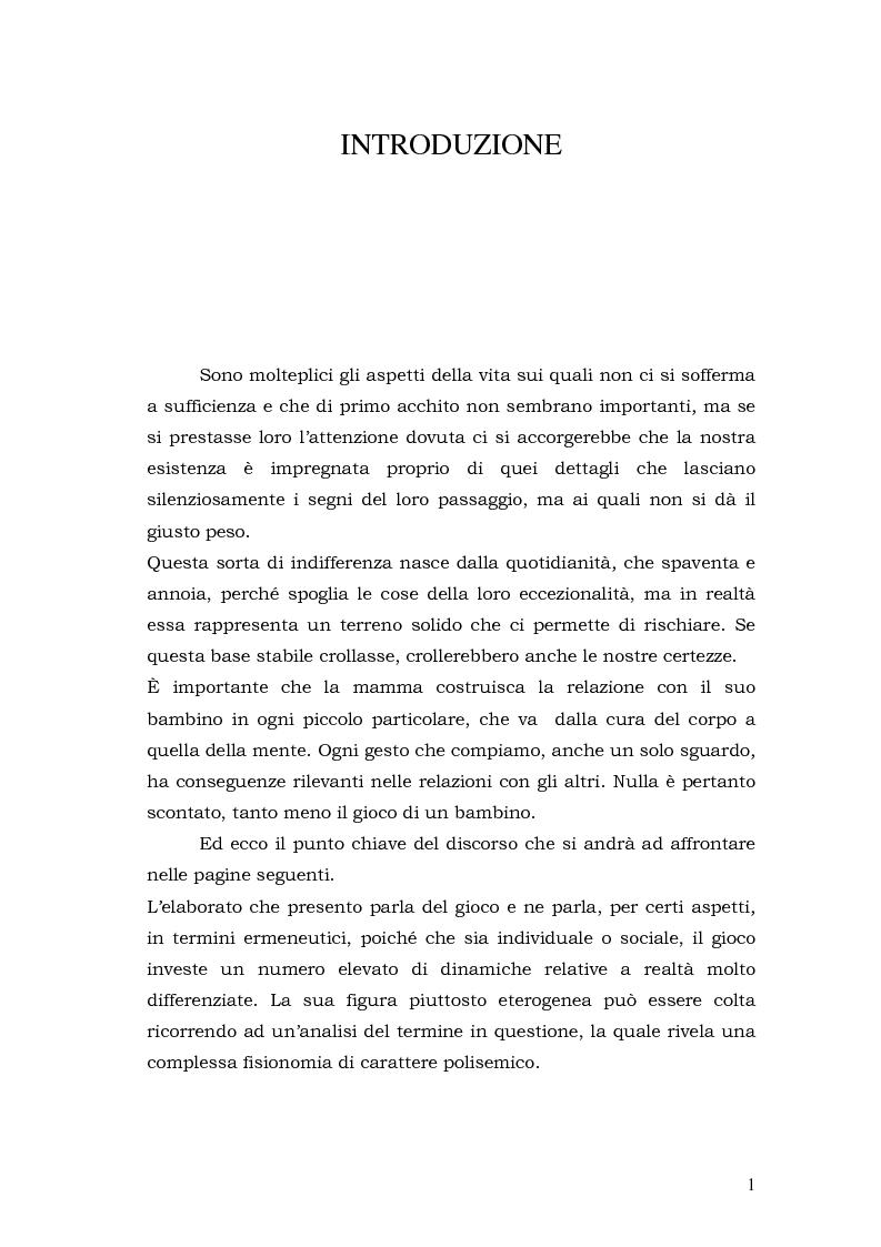 Anteprima della tesi: Quando il gioco diventa apprendimento, Pagina 1