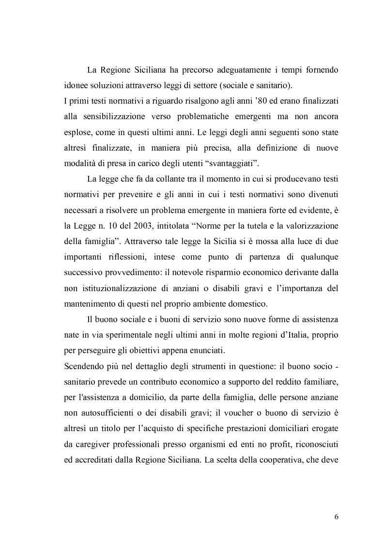 Anteprima della tesi: Le politiche socio – sanitarie in Sicilia. Ombre e luci sull'erogazione del buono socio - sanitario, Pagina 4