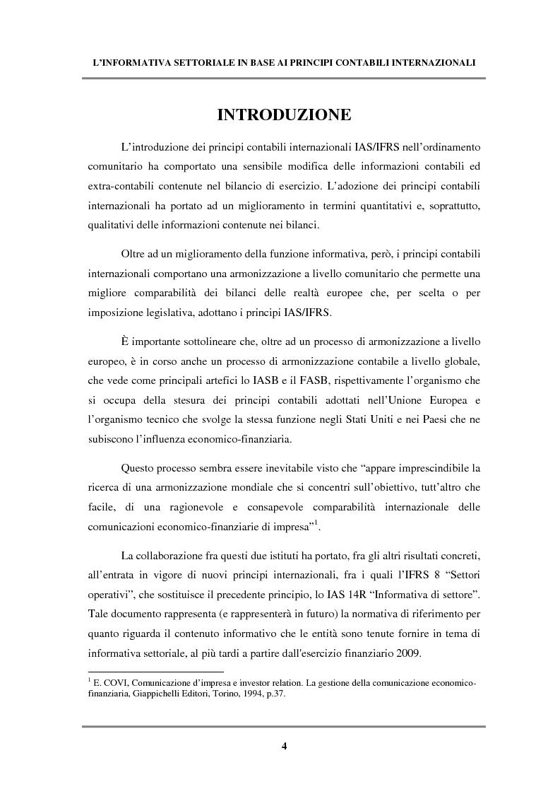 Anteprima della tesi: L'informativa settoriale in base ai principi contabili internazionali, Pagina 1