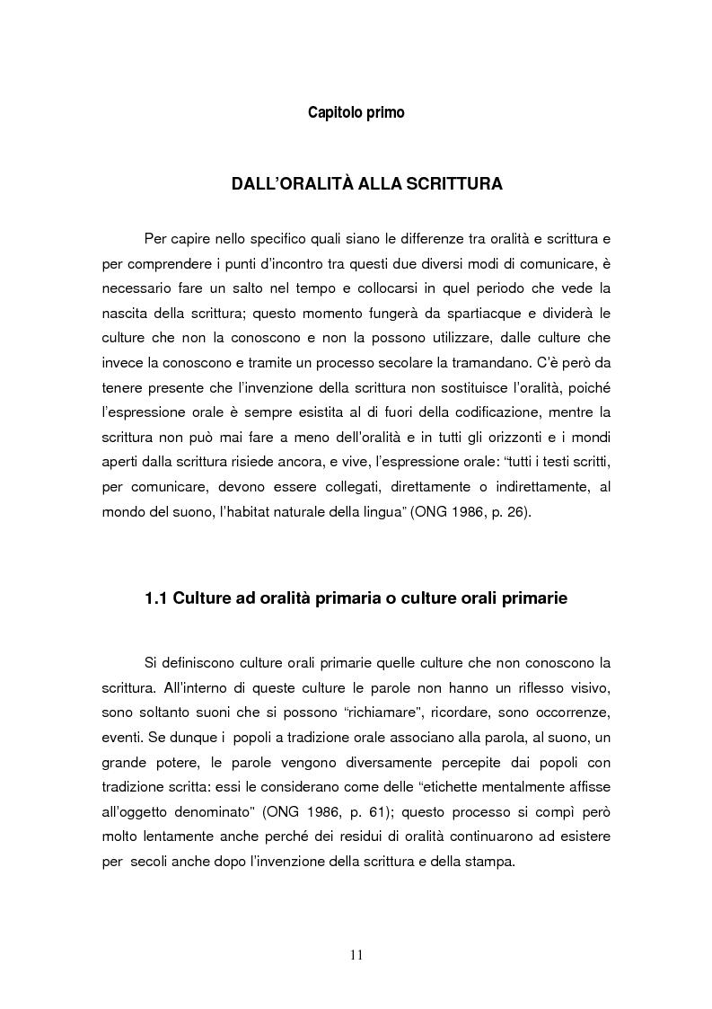 Anteprima della tesi: La comunicazione via SMS: un ritorno alla scrittura nell'era dell'oralità, Pagina 5