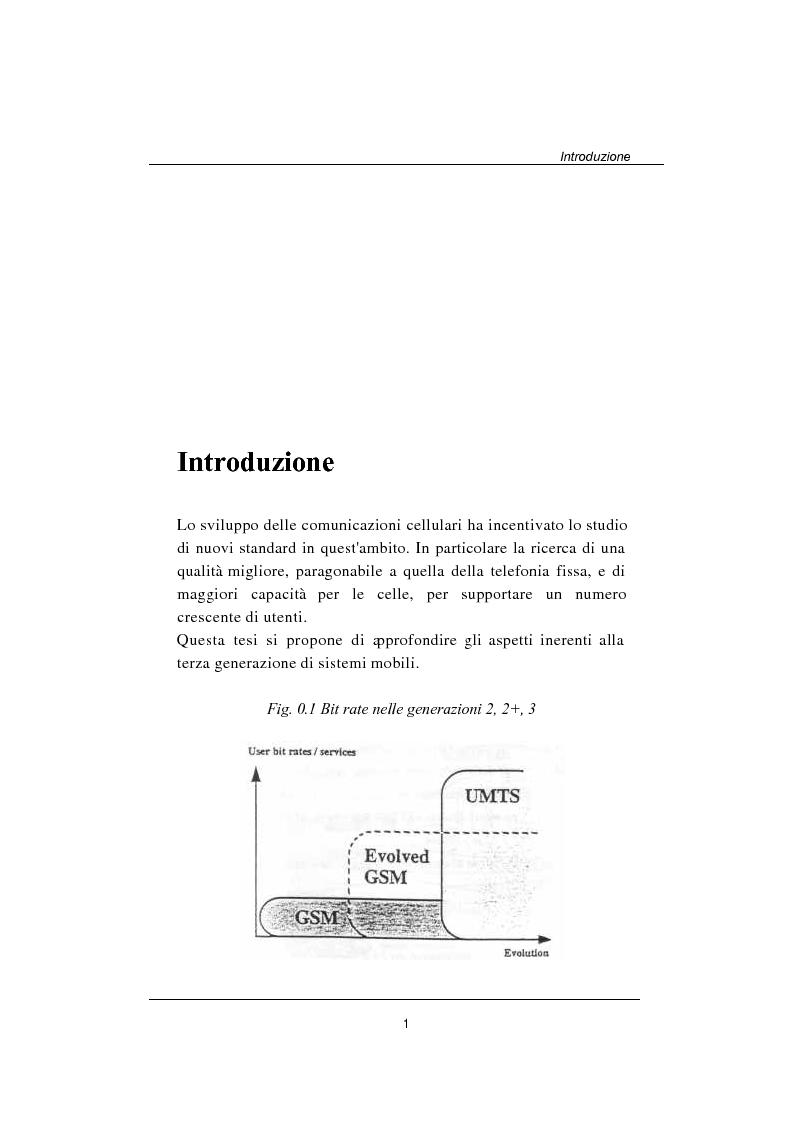 Confronto tra sistemi cellulari di seconda e terza generazione - Tesi di Laurea