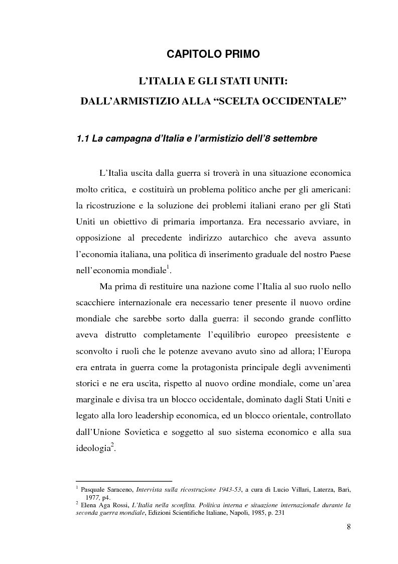 Anteprima della tesi: Agli albori del Piano Marshall: l'UNRRA in Italia, Pagina 1