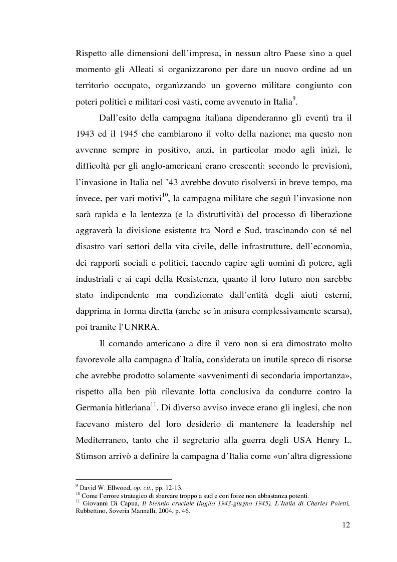 Anteprima della tesi: Agli albori del Piano Marshall: l'UNRRA in Italia, Pagina 5