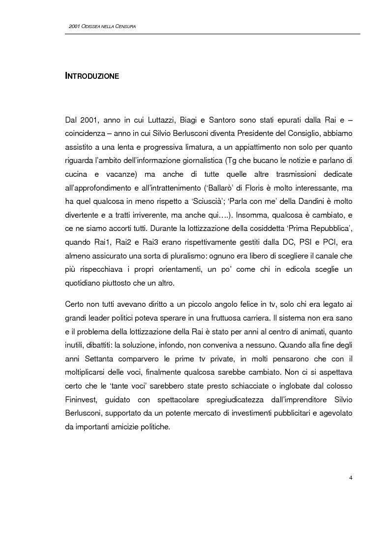 Anteprima della tesi: 2001, Odissea nella censura, Pagina 1