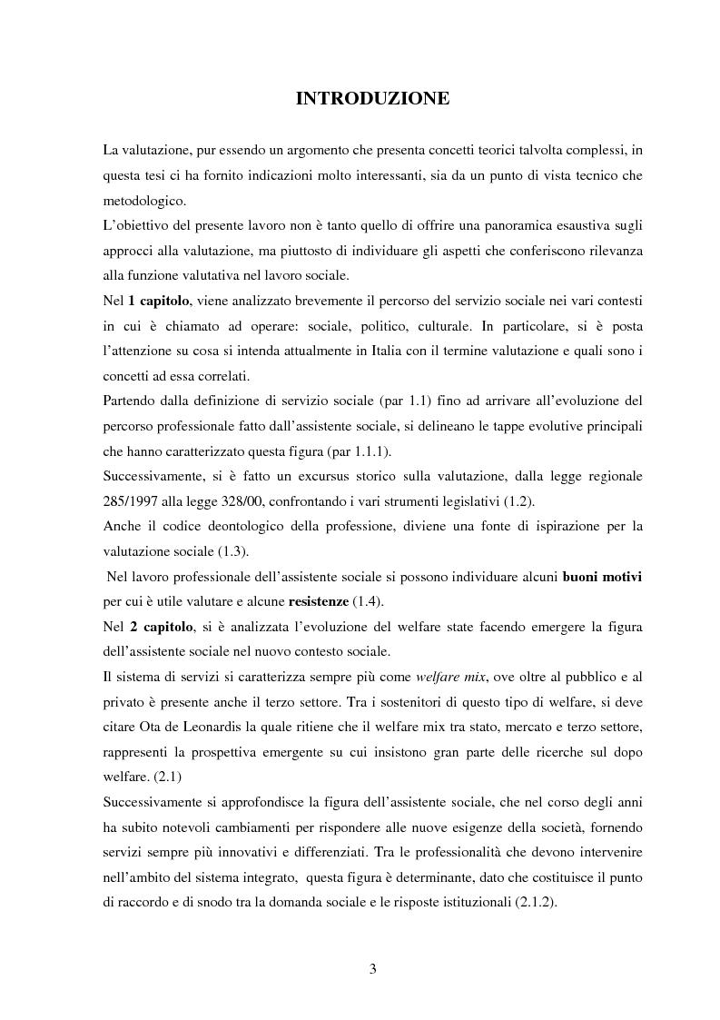 Anteprima della tesi: L'assistente sociale e la valutazione: un incontro possibile? , Pagina 1