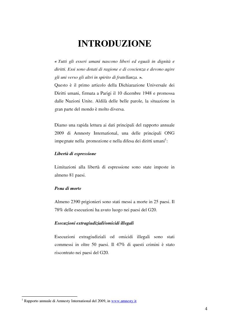 Anteprima della tesi: L'UE e i diritti umani: le sfide del XXI secolo, Pagina 1