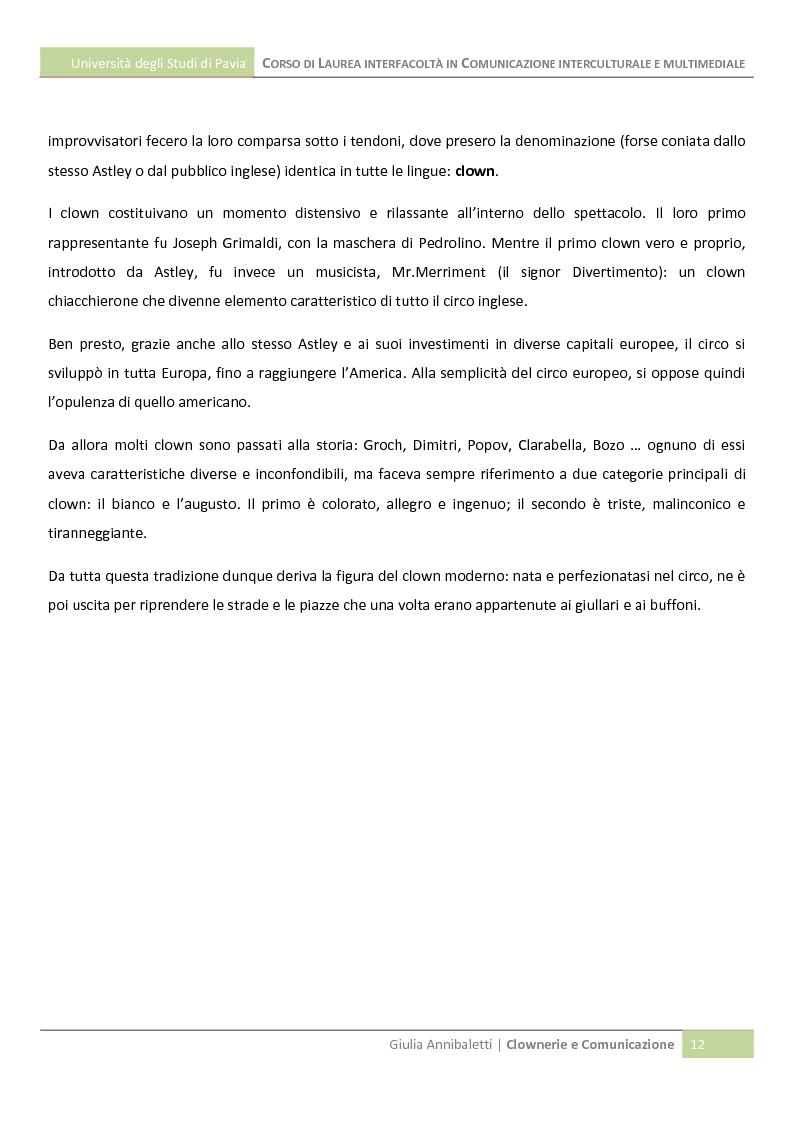 Clownerie E Comunicazioni Anteprima Tesi Pagina 7 Di 9