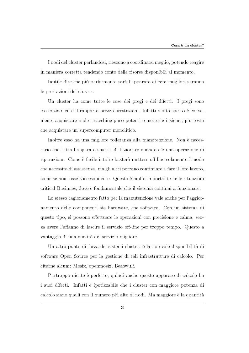 Anteprima della tesi: Analisi ed implementazione di un cluster di failover in ambiente Linux, Pagina 4