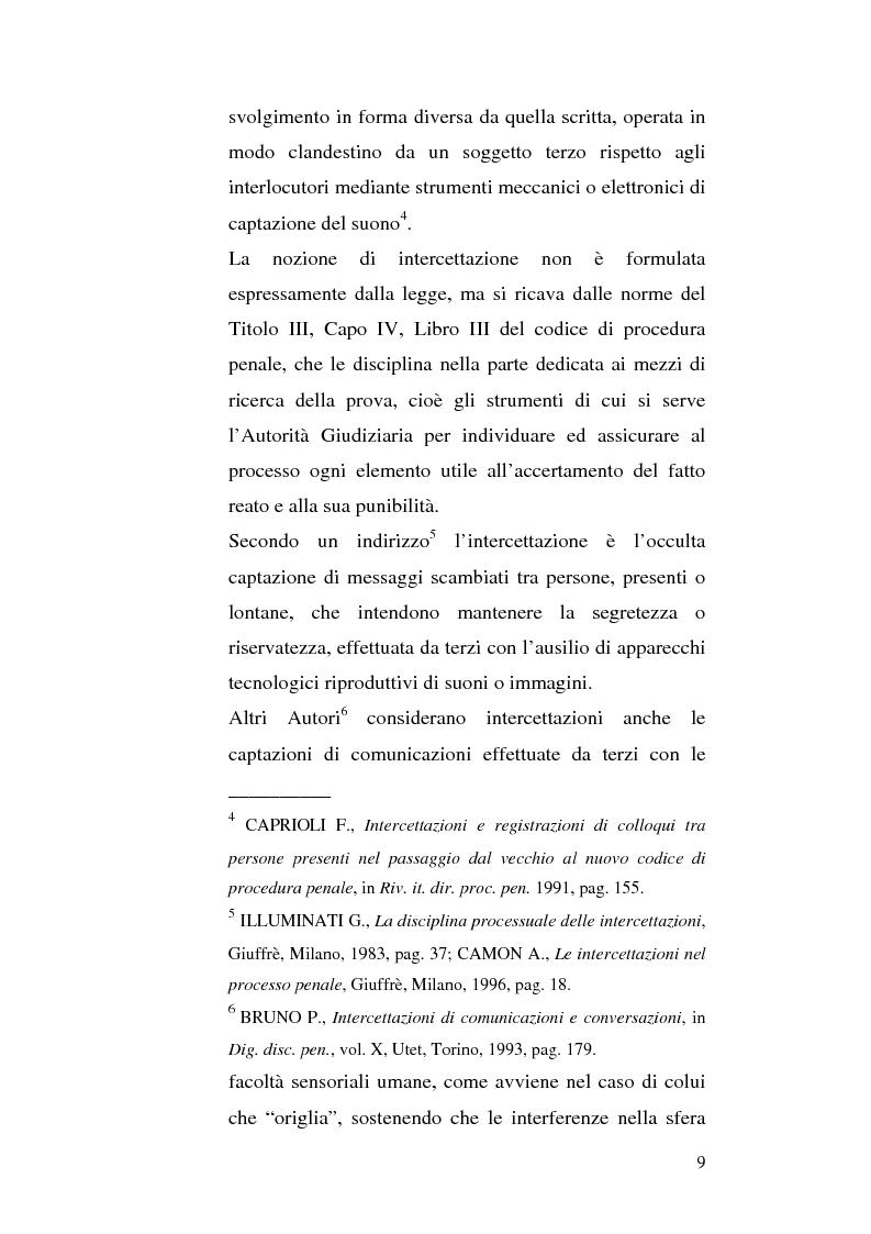 Anteprima della tesi: Intercettazioni telefoniche e diritto di informazione, Pagina 6