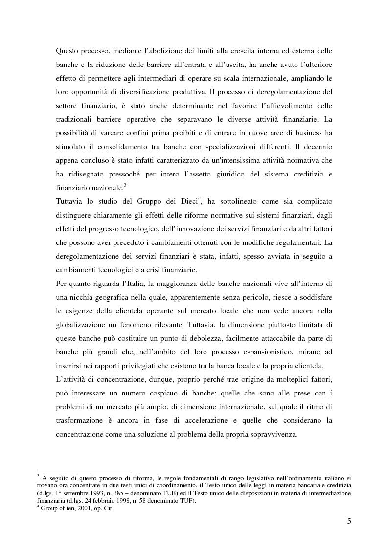 Anteprima della tesi: Le determinanti della creazione del valore nelle fusioni bancarie: evidenze empiriche del contesto italiano, Pagina 2