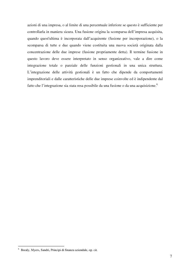 Anteprima della tesi: Le determinanti della creazione del valore nelle fusioni bancarie: evidenze empiriche del contesto italiano, Pagina 4