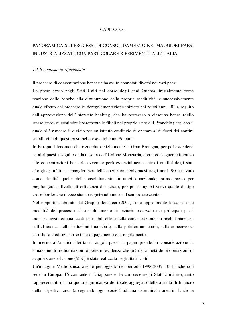Anteprima della tesi: Le determinanti della creazione del valore nelle fusioni bancarie: evidenze empiriche del contesto italiano, Pagina 5