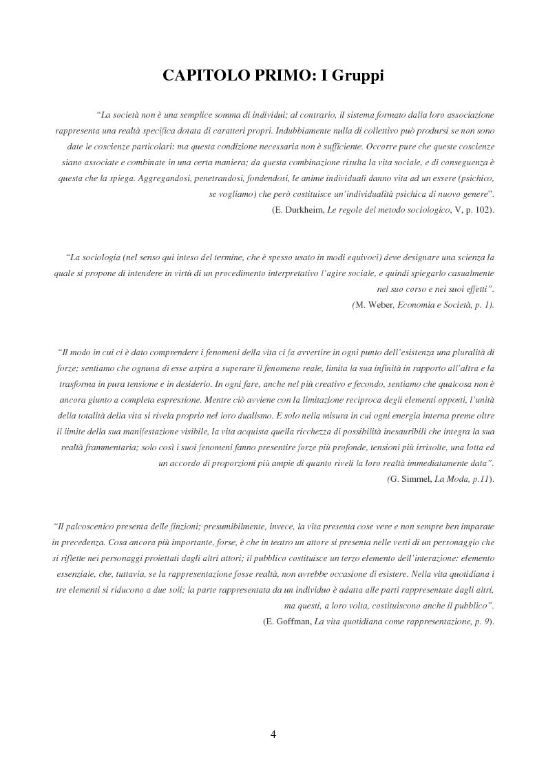 """Anteprima della tesi: Dinamiche relazionali del gruppo creativo: il caso """"Spaghetti Spin Doctors"""", Pagina 3"""