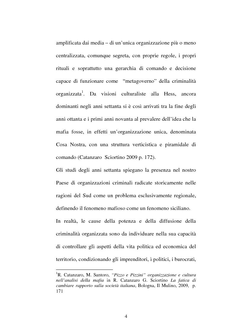 Anteprima della tesi: Sistemi comunicativi all'interno di Cosa Nostra, Pagina 2