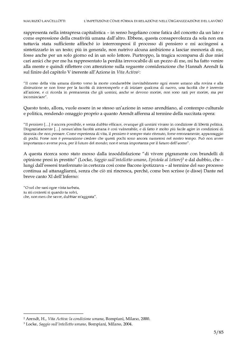Anteprima della tesi: L'impetizione come forma di relazione nell'organizzazione del lavoro, Pagina 2