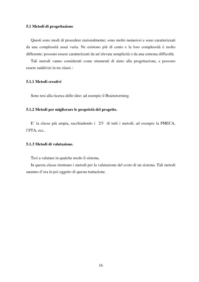 Anteprima della tesi: Metodologie orientate alla riduzione dei costi durante la progettazione con particolare riguardo al Life Cycle Cost, Pagina 11