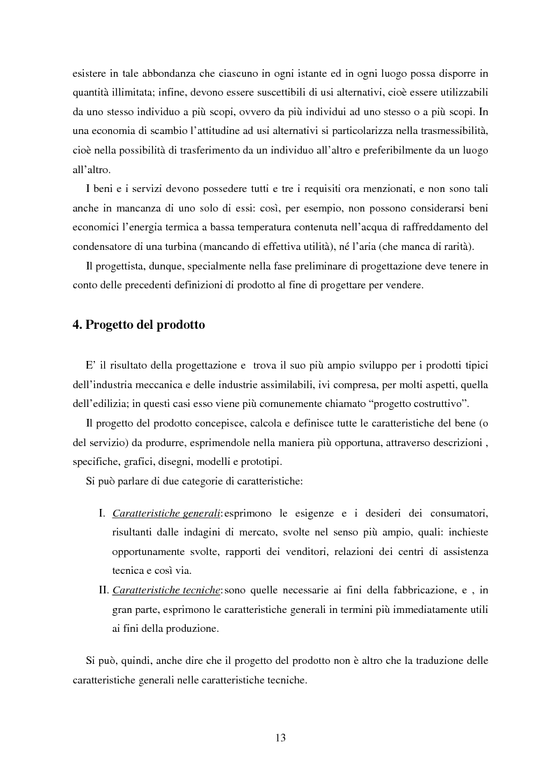 Anteprima della tesi: Metodologie orientate alla riduzione dei costi durante la progettazione con particolare riguardo al Life Cycle Cost, Pagina 8