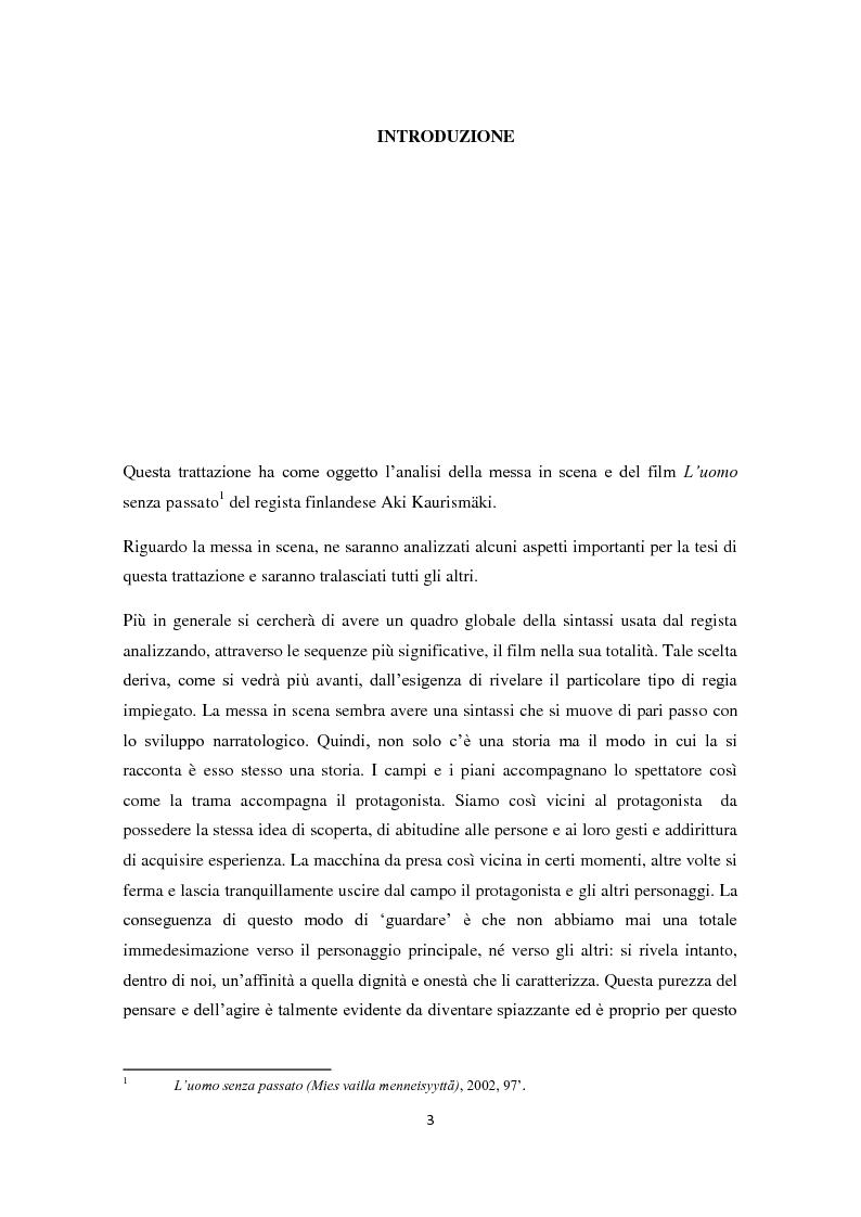 Anteprima della tesi: L'uomo senza passato. Messa in scena, Pagina 1