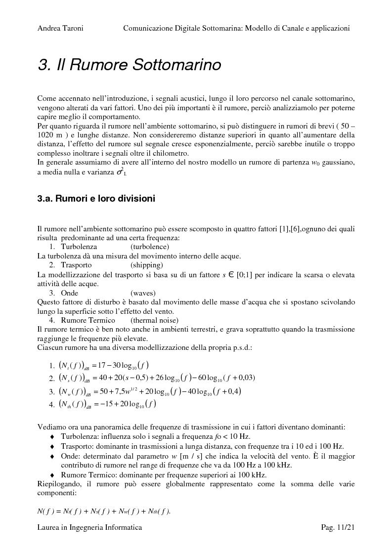 Estratto dalla tesi: Underwater wireless communication: studio della trasmissione wireless di un segnale lungo il canale sottomarino