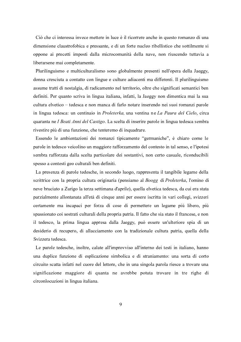 Estratto dalla tesi: Le geometrie irrequiete di Fleur Jaeggy
