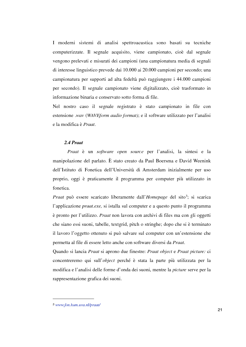 Estratto dalla tesi: Studi sperimentali sulla percezione dell'accento straniero