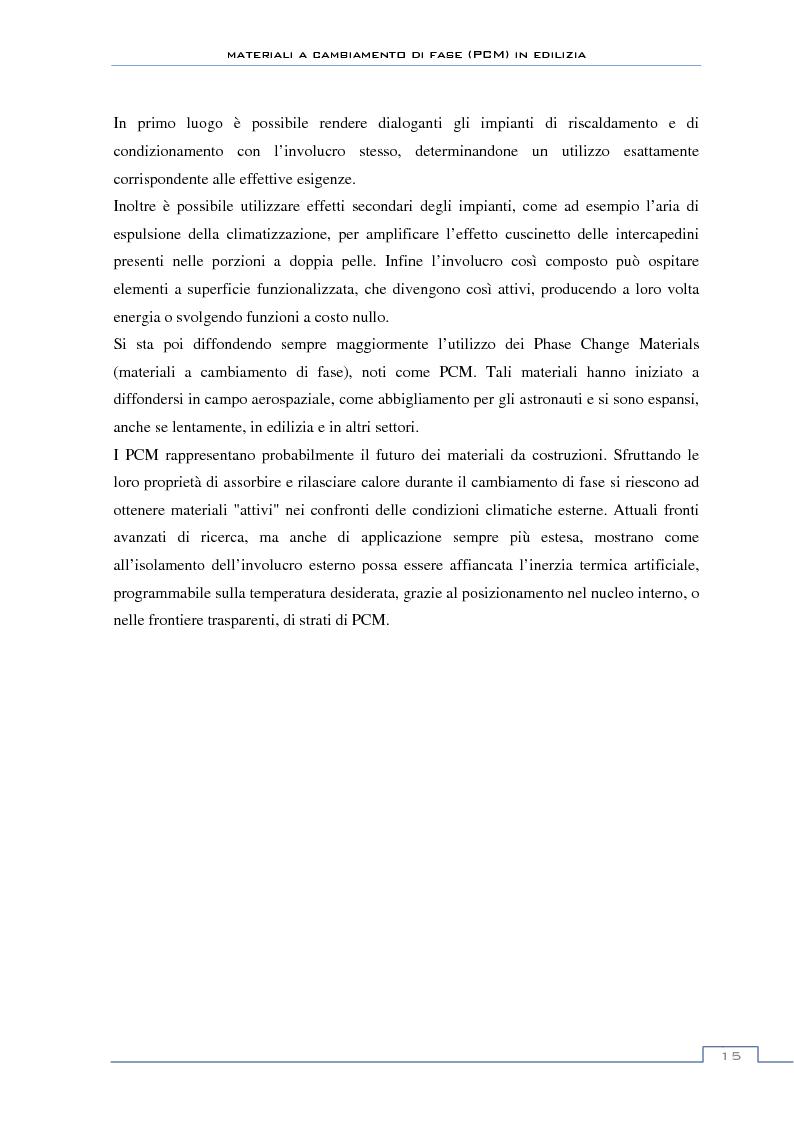 Anteprima della tesi: Materiali a cambiamento di fase in edilizia (PCM) - Sperimentazioni sull'involucro a blocchi portanti e su rivestimenti ad intonaco, Pagina 9