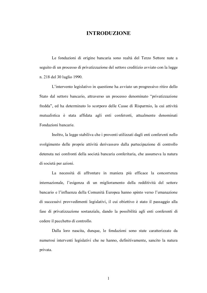 Il modello del bilancio di esercizio nelle fondazioni bancarie: la Fondazione Cariplo - Tesi di Laurea