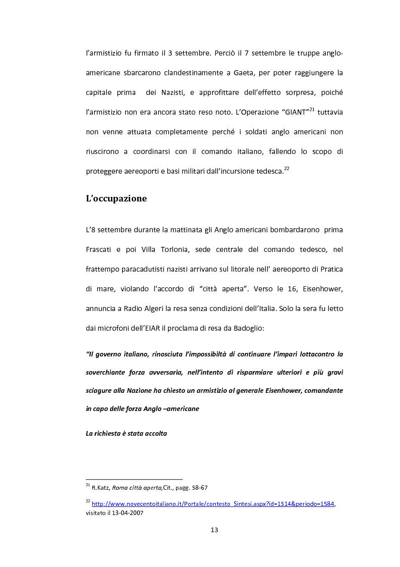 Anteprima della tesi: La situazione alimentare a Roma durante l'occupazione nazista: microstoria di Valle Aurelia, Pagina 8