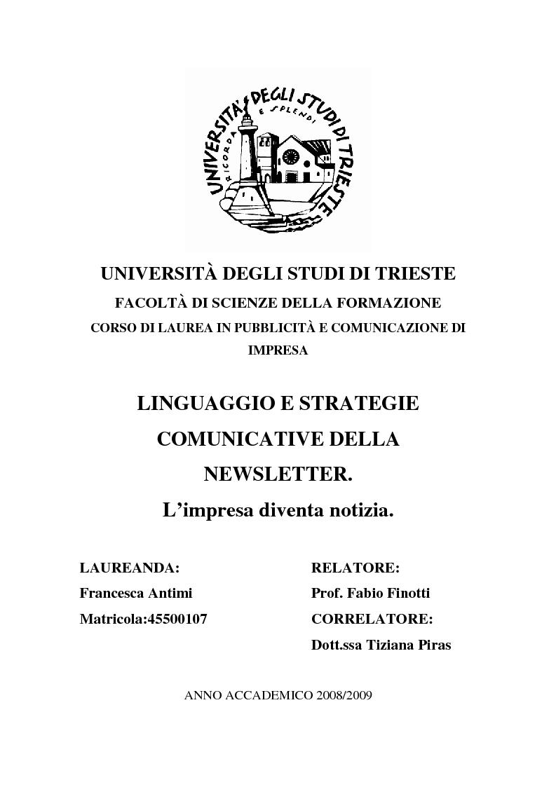 Universit degli studi di trieste facolt di scienze della for Design della comunicazione universita