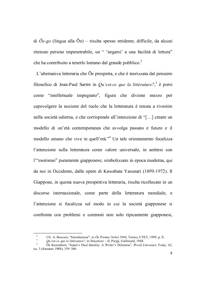 Anteprima della tesi: Il percorso letterario di Ōe Kenzaburō tra realtà, storia e ricerca letteraria, Pagina 3
