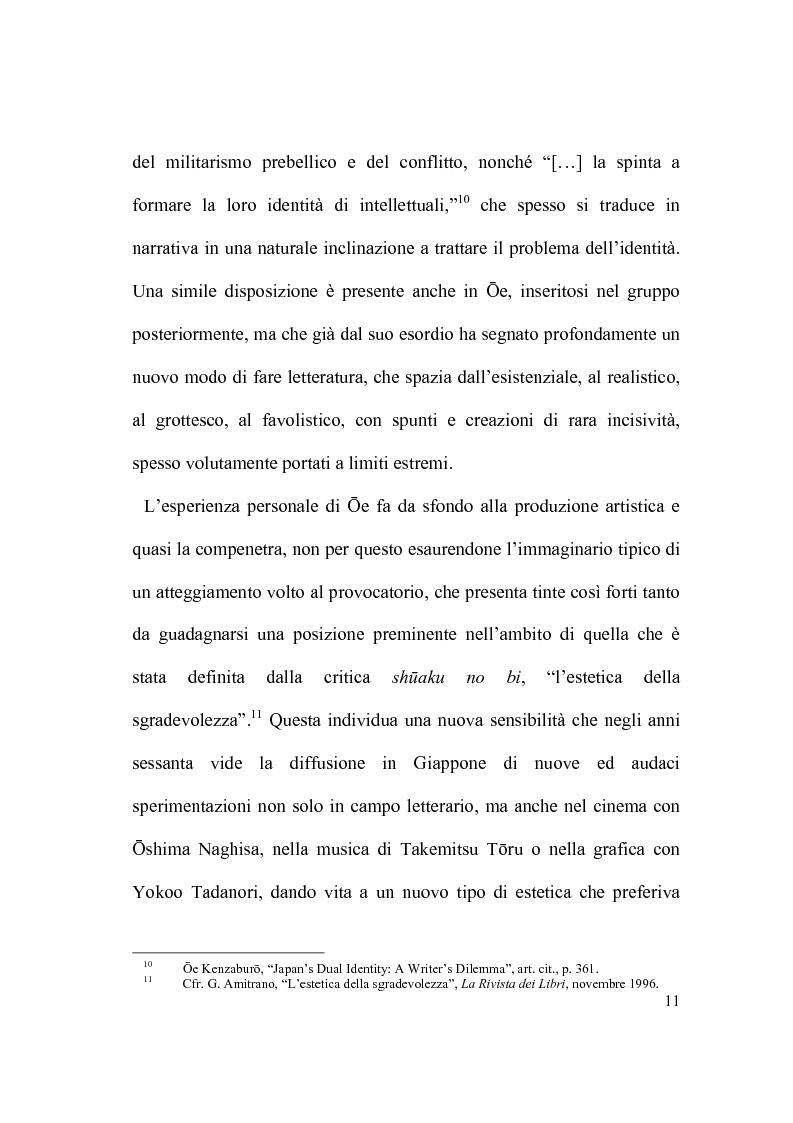 Anteprima della tesi: Il percorso letterario di Ōe Kenzaburō tra realtà, storia e ricerca letteraria, Pagina 6