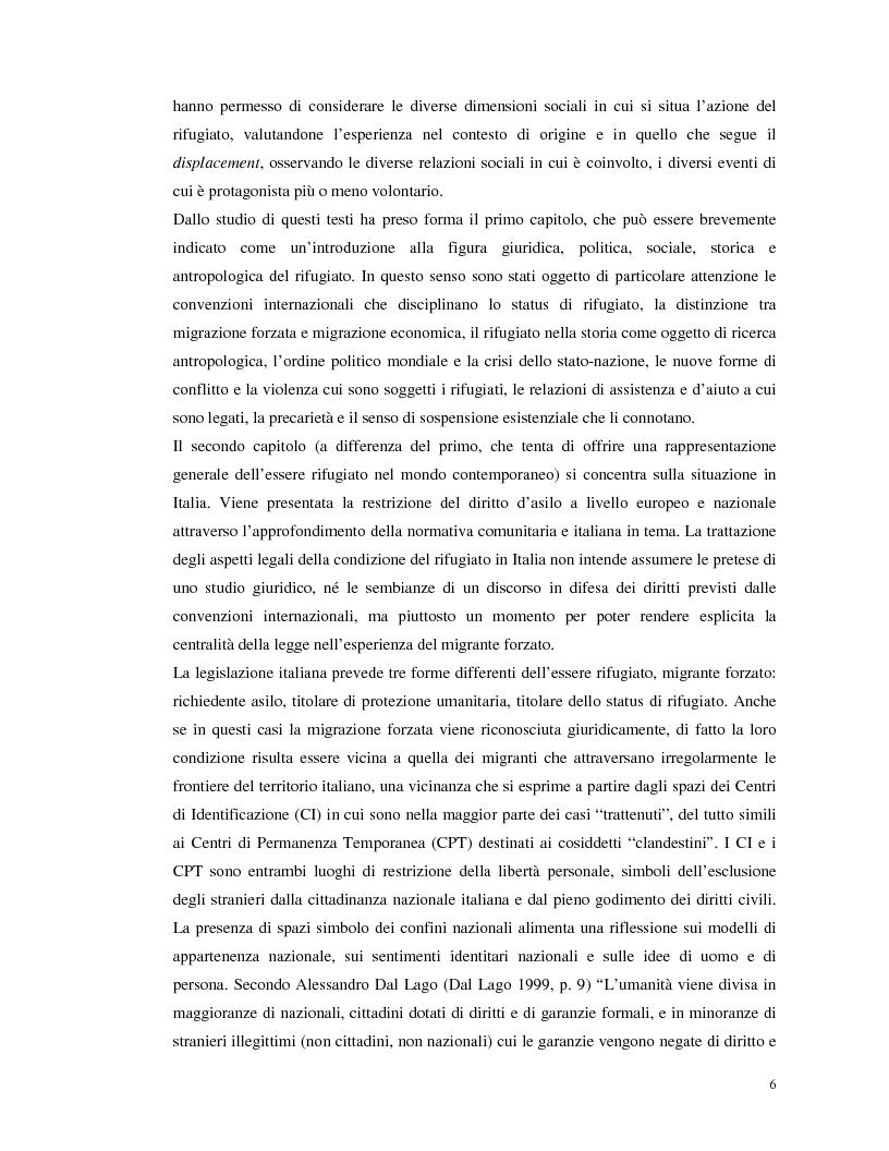 Anteprima della tesi: La migrazione forzata dei rifugiati. Prospettive antropologiche, normativa ed esperienze., Pagina 3