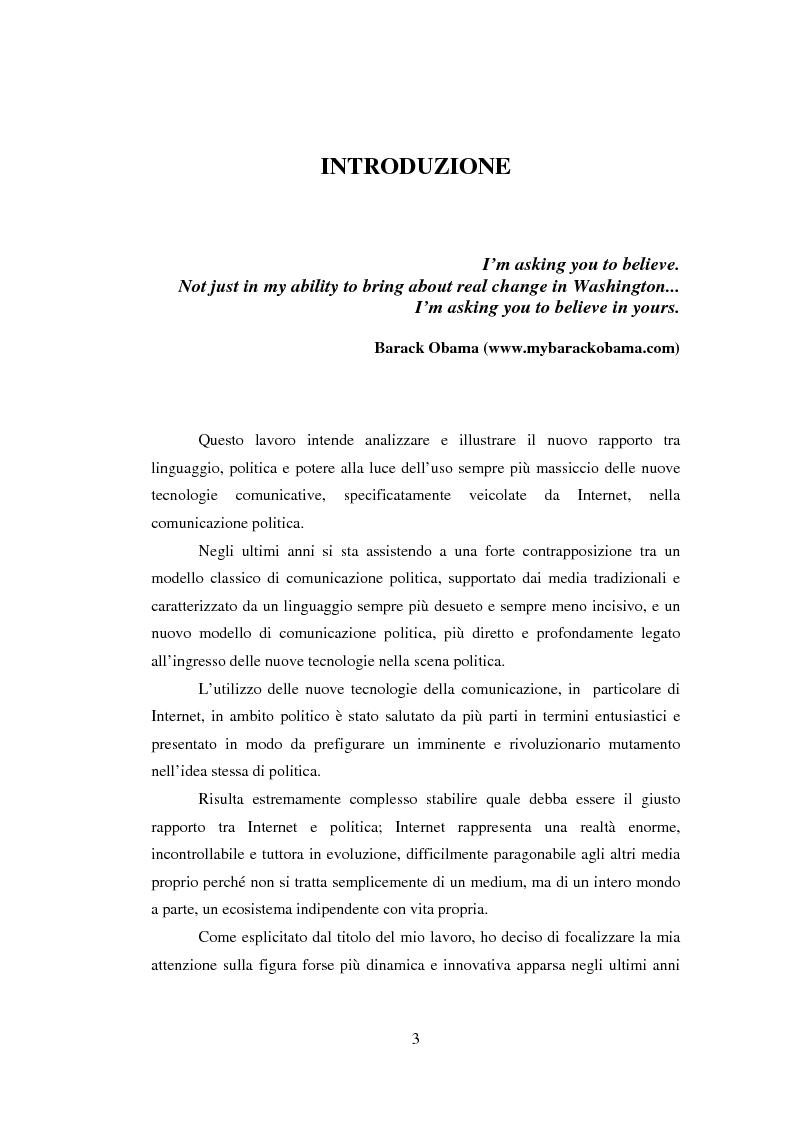 Anteprima della tesi: The Triple-O Victory: Obama e la comunicazione politica Web 2.0, Pagina 1