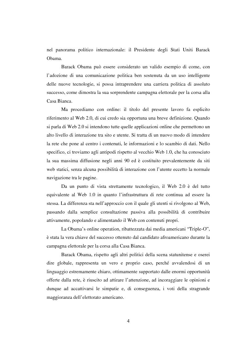 Anteprima della tesi: The Triple-O Victory: Obama e la comunicazione politica Web 2.0, Pagina 2