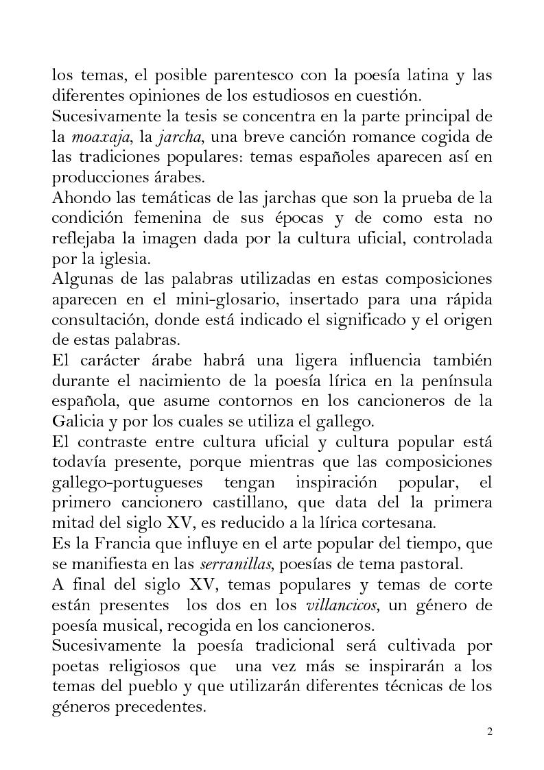 Anteprima della tesi: Oriente e Occidente nella poesia popolare spagnola, Pagina 2