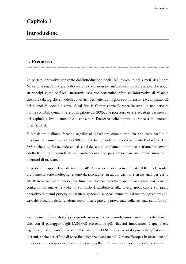 6faf22a4c9 Anteprima della tesi: Gli strumenti finanziari secondo i principi contabili  internazionali: problematiche di contabilizzazione. «