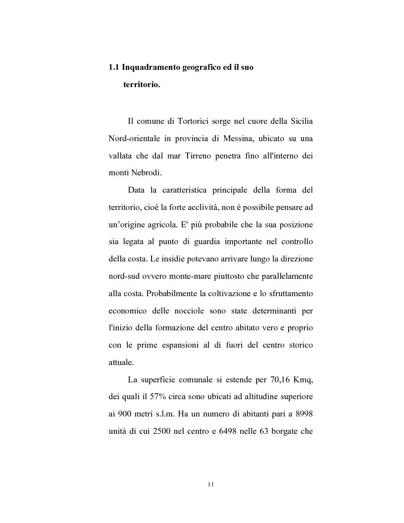 Anteprima della tesi: Le caratteristiche strutturali dell'economia agricola in Tortorici, Pagina 4