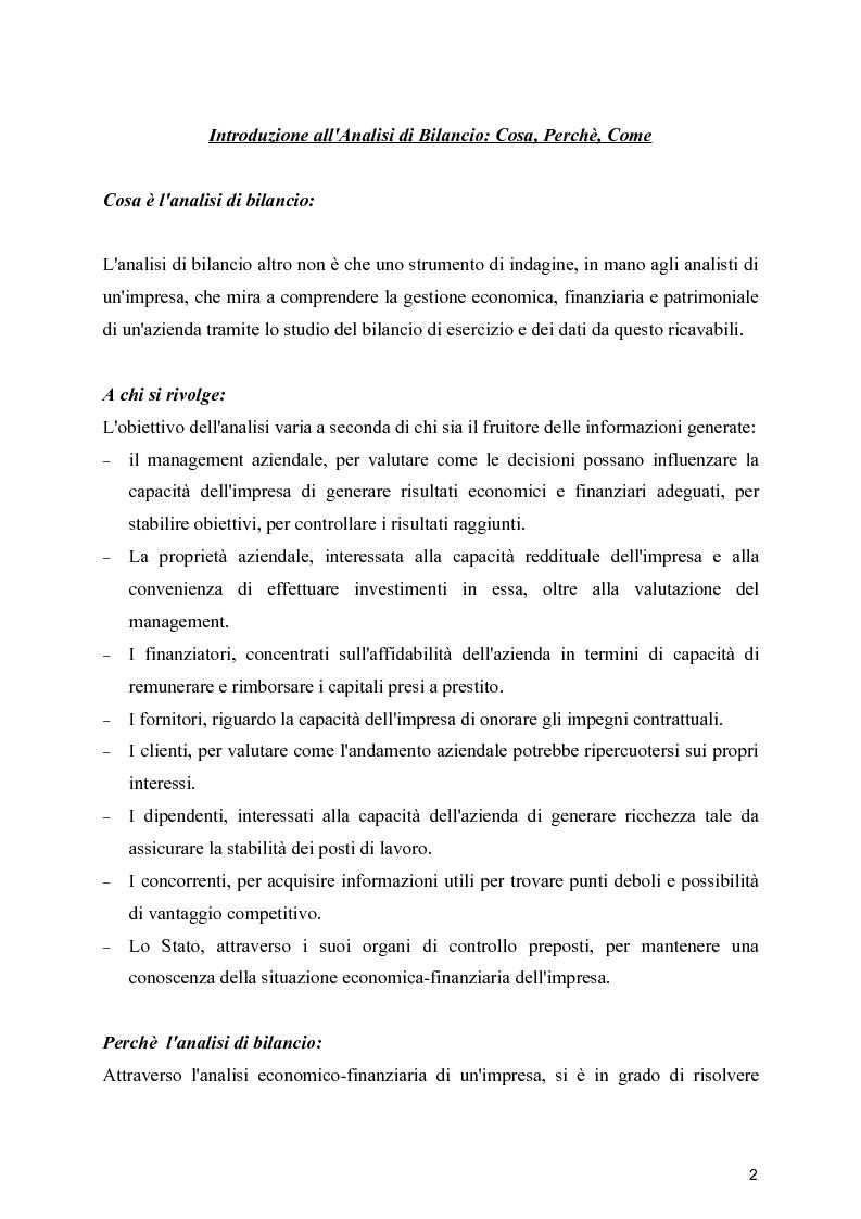 Anteprima della tesi: Benchmarking economico-finanziario nel mercato del settore delle macchine per la produzione ceramica, Pagina 1