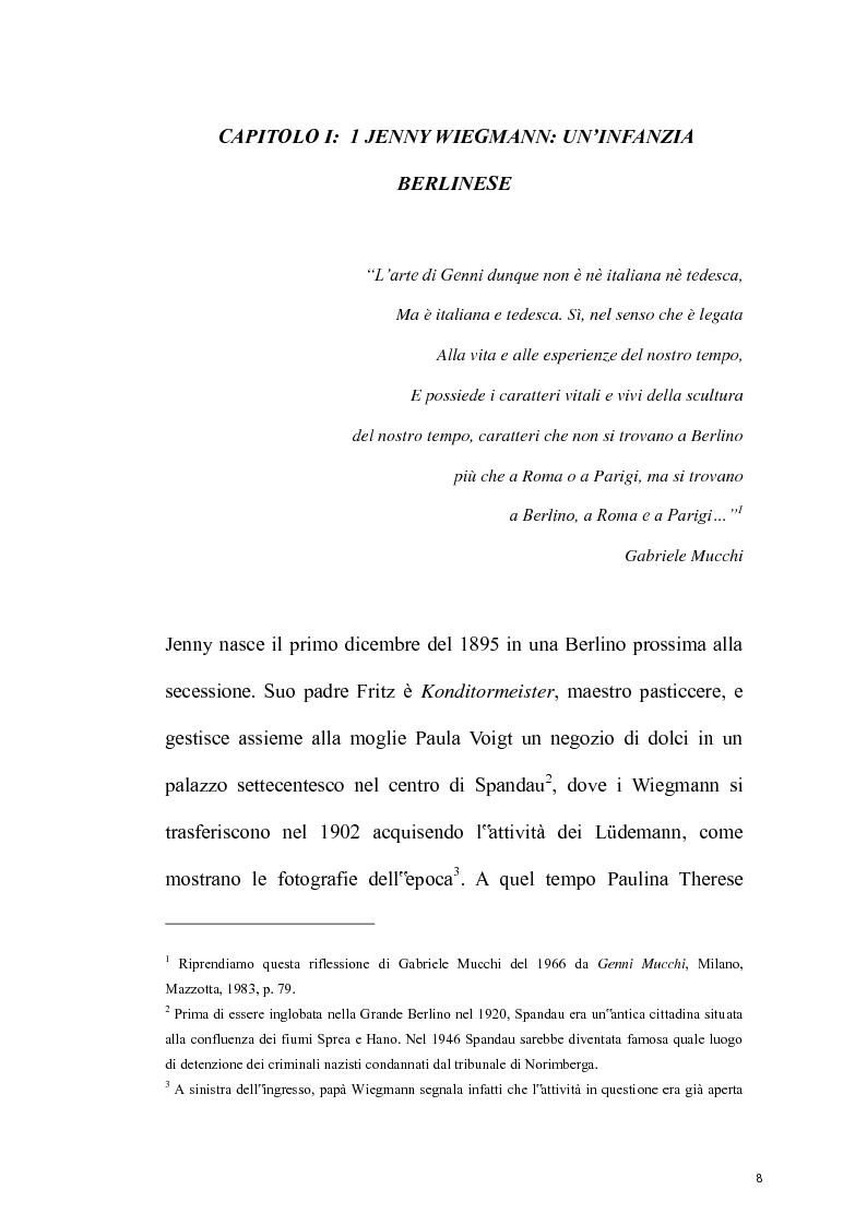 "Anteprima della tesi: ""Genni"" Jenny Wiegmann Mucchi, Pagina 1"