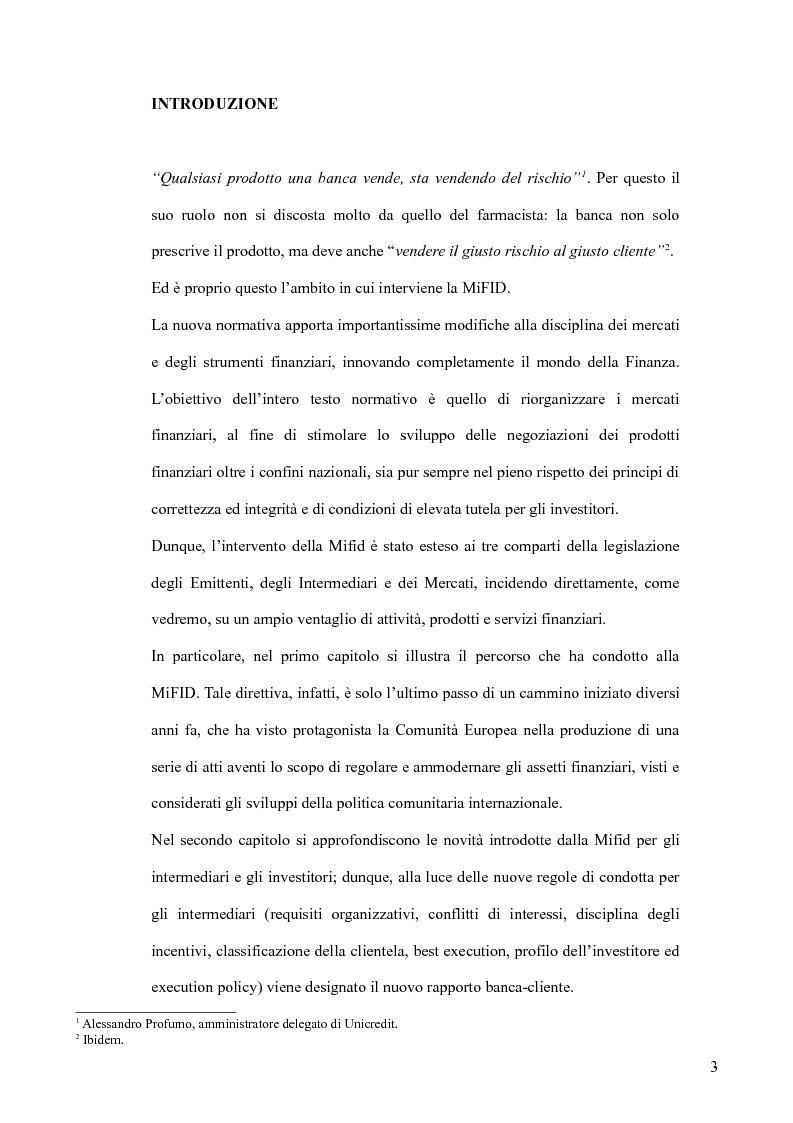 Anteprima della tesi: Il MiFID, Pagina 1