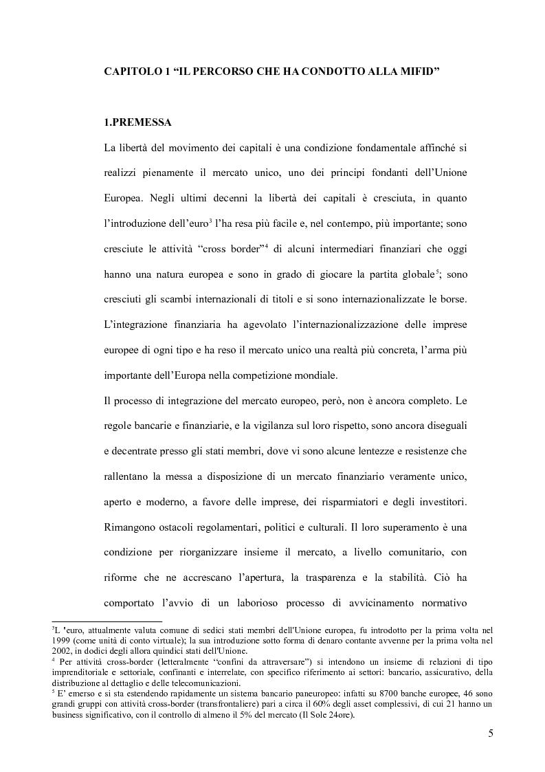 Anteprima della tesi: Il MiFID, Pagina 3